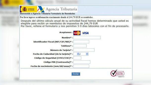 Foto: Un correo fraudulento se hace pasar por Hacienda para obtener tus datos personales