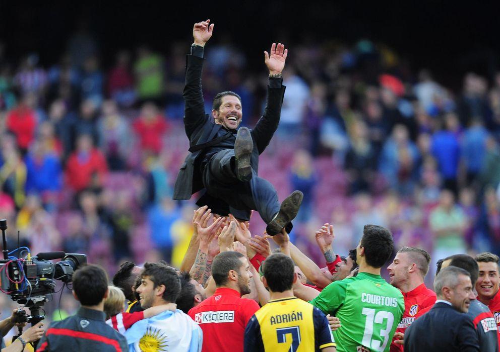 Foto: El atletico, campeon de liga