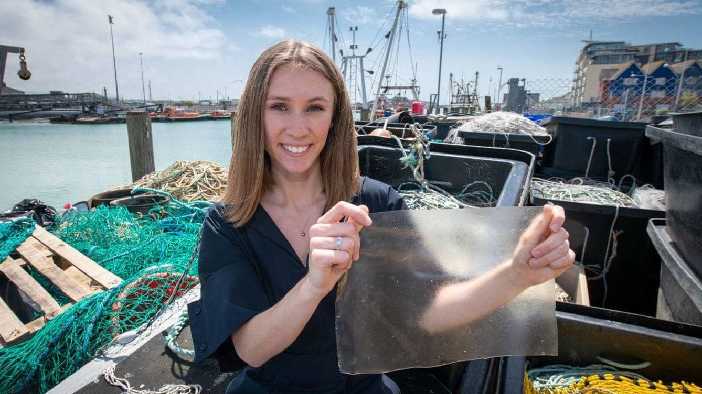 Crean un sustituto del plástico a partir de deshechos de pescado