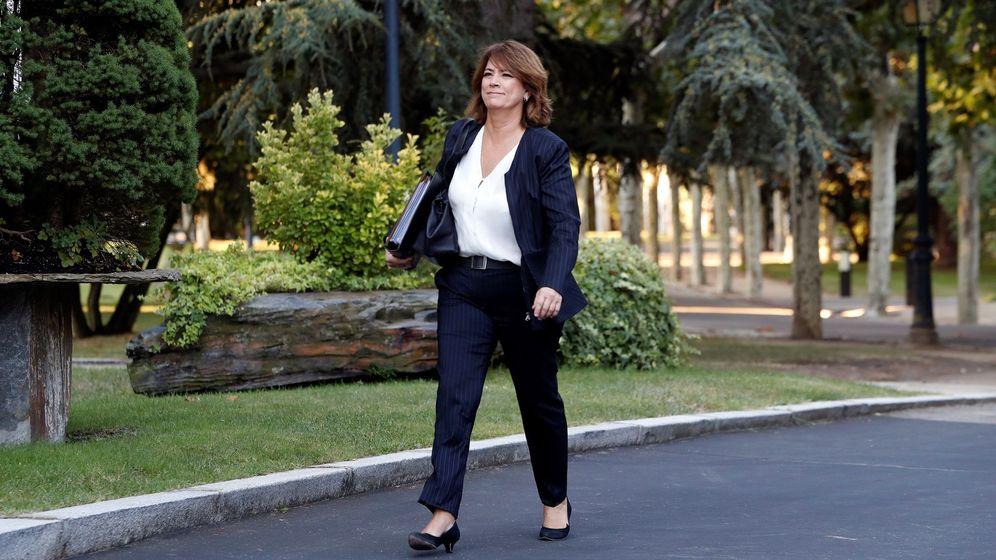 Foto: La ministra de Justicia, Dolores Delgado, el pasado viernes a su llegada al Consejo de Ministros (EFE)