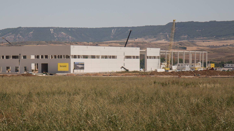 Construcción de la primera fase del proyecto, que acogerá a la multinacional XPO. (D. B.)