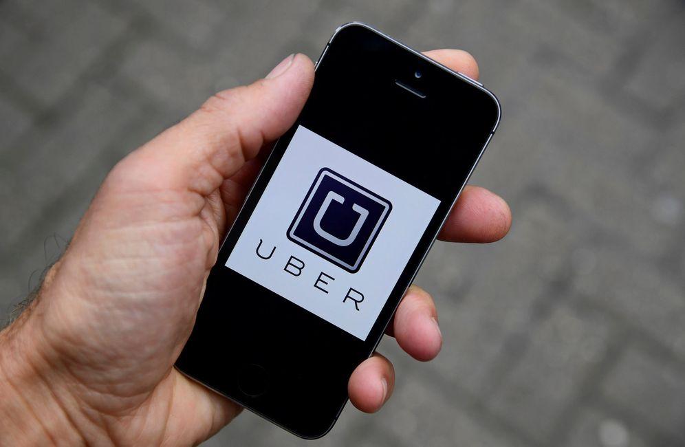 Foto: Vista de la aplicación de Uber. (Reuters)