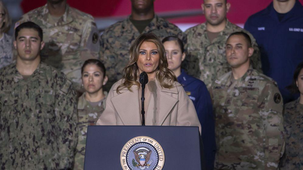 Foto: Melania Trump, en el acto donde se ha producido esta batalla fashionista. (EFE)