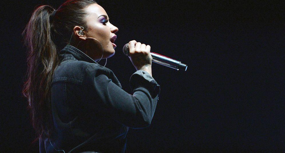 Foto: Demi Lovato, durante una actuación. (Getty)