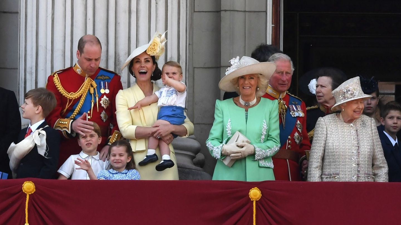La familia real en el balcón de Buckingham Palace. (Reuters)