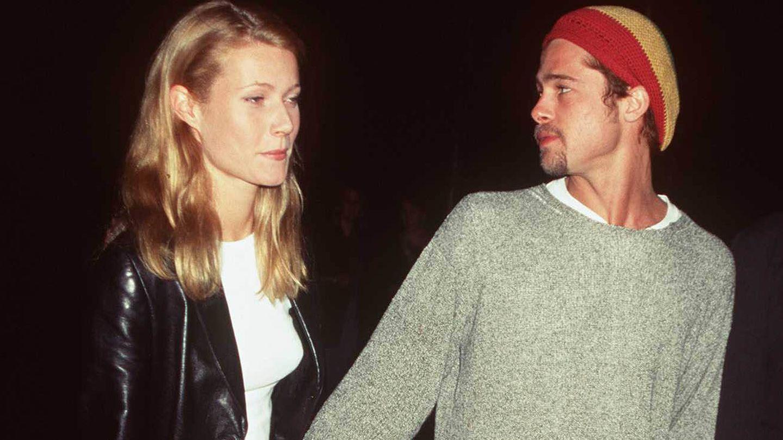 Gwyneth Paltrow y Brad Pitt. (Getty)