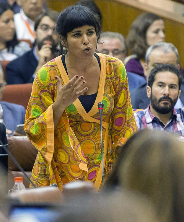 Foto: La secretaria general y portavoz parlamentaria de Podemos, Teresa Rodríguez. (EFE)