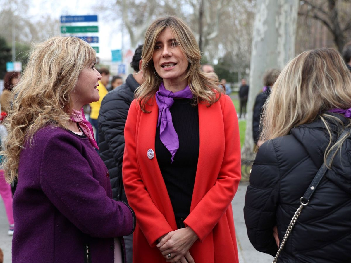 Foto: Begoña Gómez (c), esposa del presidente del Gobierno de España. (EFE)