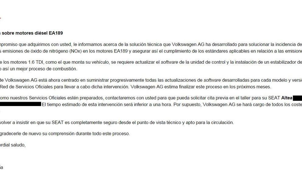 Facua recomienda a los afectados por el caso Volkswagen no acudir a la revisión