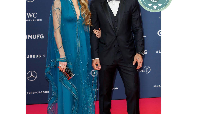 Luis Figo y Helen Svedin. (Cordon Press)