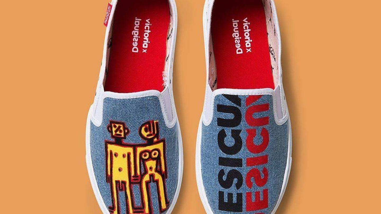Zapatillas deportivas de Desigual y Victoria. (Cortesía)
