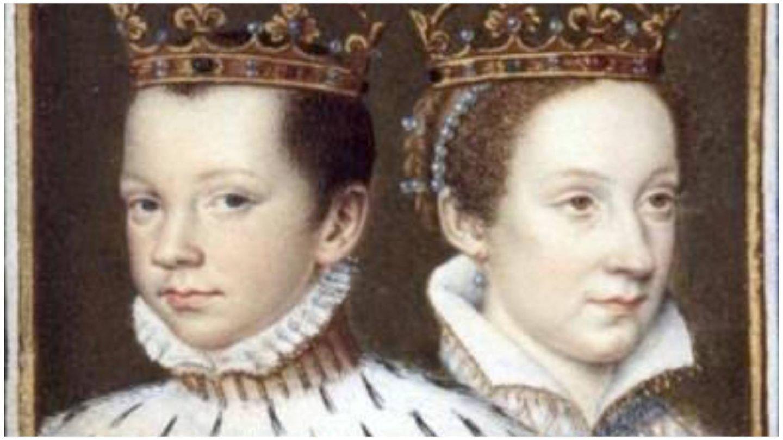 María y Francisco, en un retrato de su coronación. (Biblioteca Nacional de Francia)