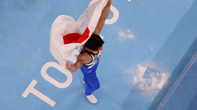 Oro japonés en gimnasia artística masculina. (Reuters)