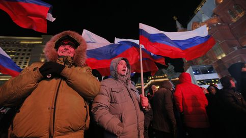 Los partidarios de Putin celebran su victoria