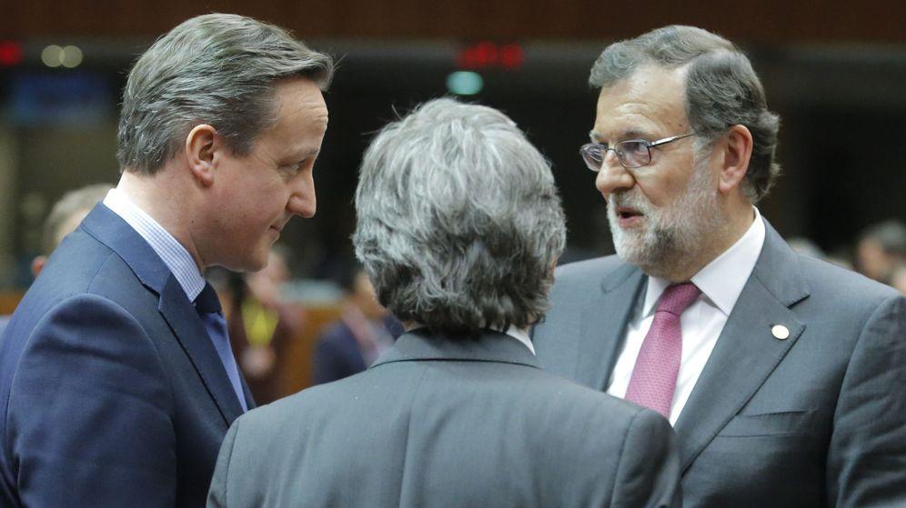 Foto: El primer ministro británico, David Cameron, y Mariano Rajoy. (EFE)