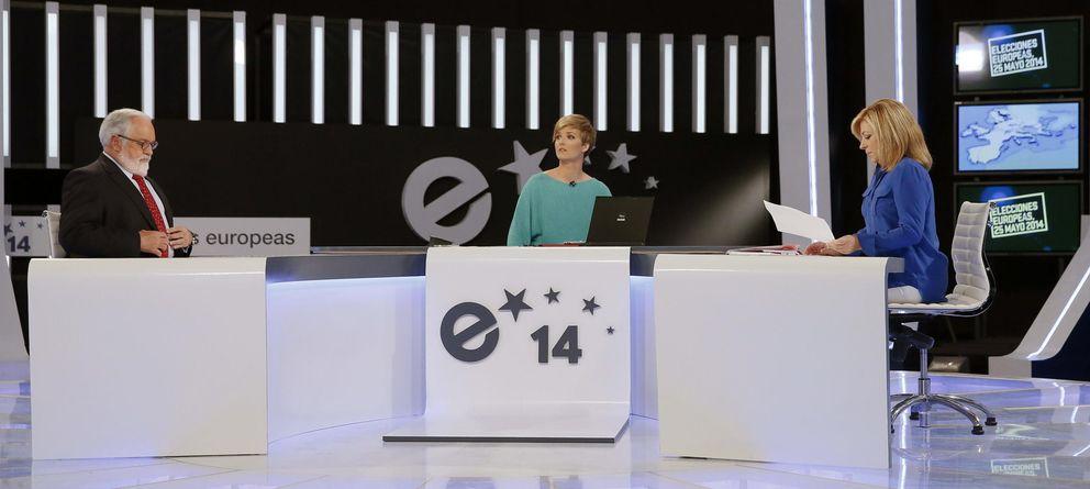 Foto: Arias Cañete y Valenciano en el debate. (Efe)