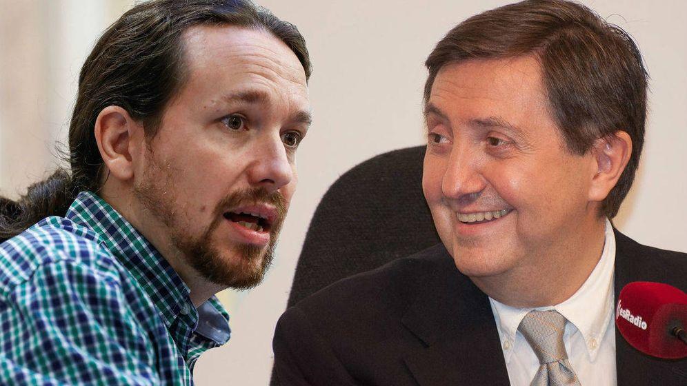 Foto: Pablo Iglesias y Federico Jiménez Losantos. (El Confidencial).