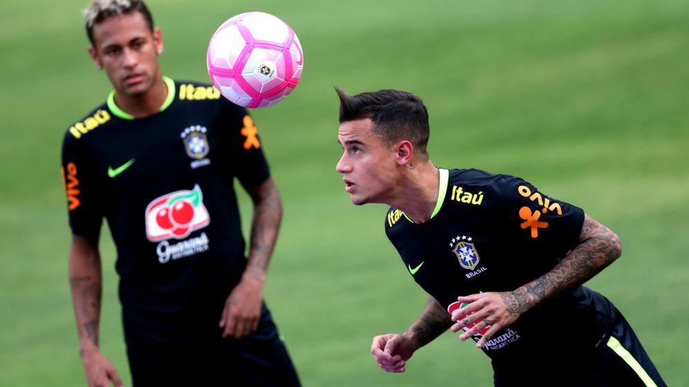 Foto: Neymar y Coutinho, con Brasil. (EFE)