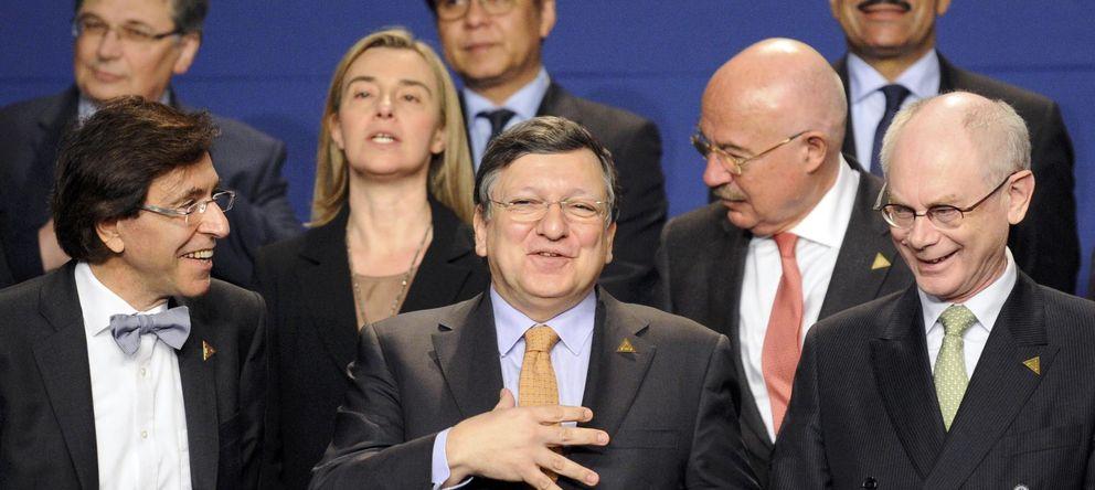 Foto: El primer ministro belga, Elio Di Rupo, el presidente de la Comisión Europea, Durao Barroso, y el presidente del Consejo Europeo, Van Rompuy. (Reuters)