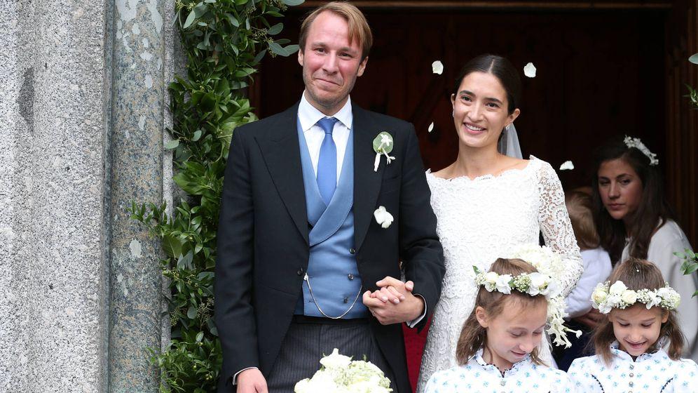 Foto: El príncipe Konstantin de Bavaria y su mujer. (Getty Images)