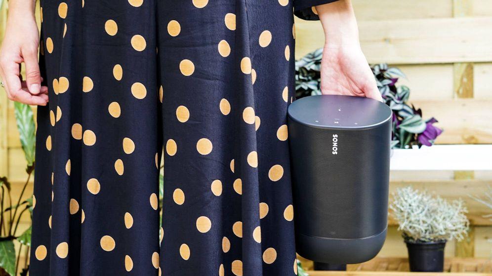 Foto: Detalle del nuevo Sonos Move.