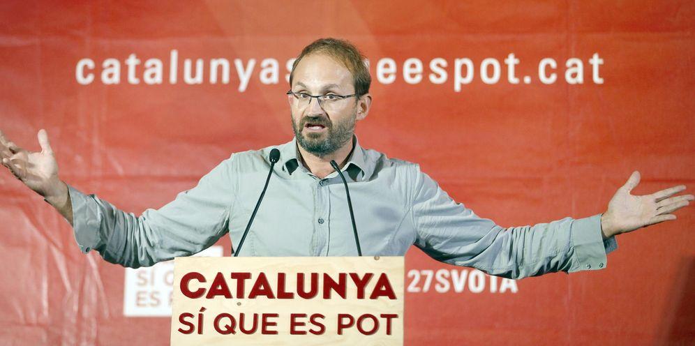 Foto: Joan Herrera, durante un mitin de campaña de las catalanas del 27-S, el 22 de septiembre de 2015. (EFE)