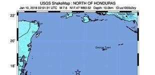 Post de Un terremoto de magnitud 7,6 sacude Honduras y la región del Caribe