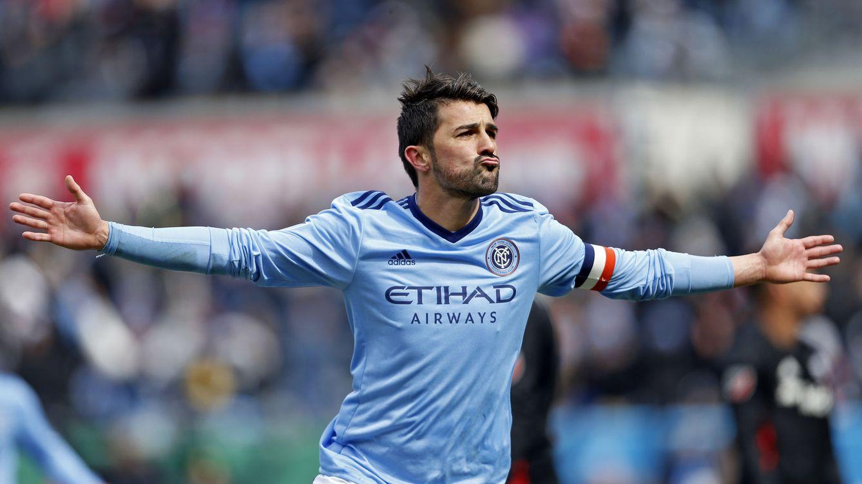 Fue increíble: David Villa marca uno de los mejores goles de su carrera deportiva