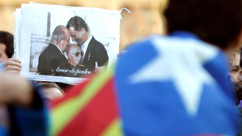 Cartel en una manifestación independentista en Barcelona. (EFE)