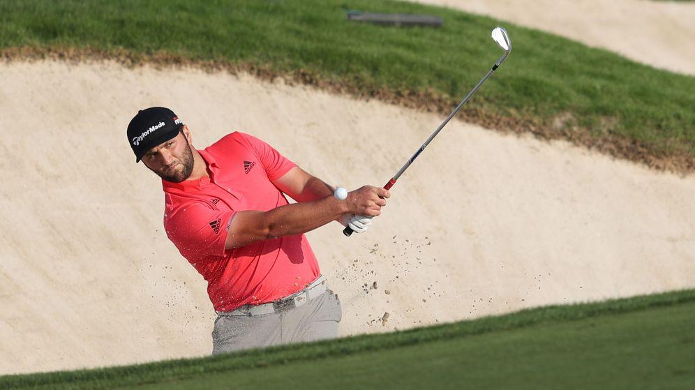 Foto: Jon Rahm jugando en Dubai este fin de semana. (EFE)