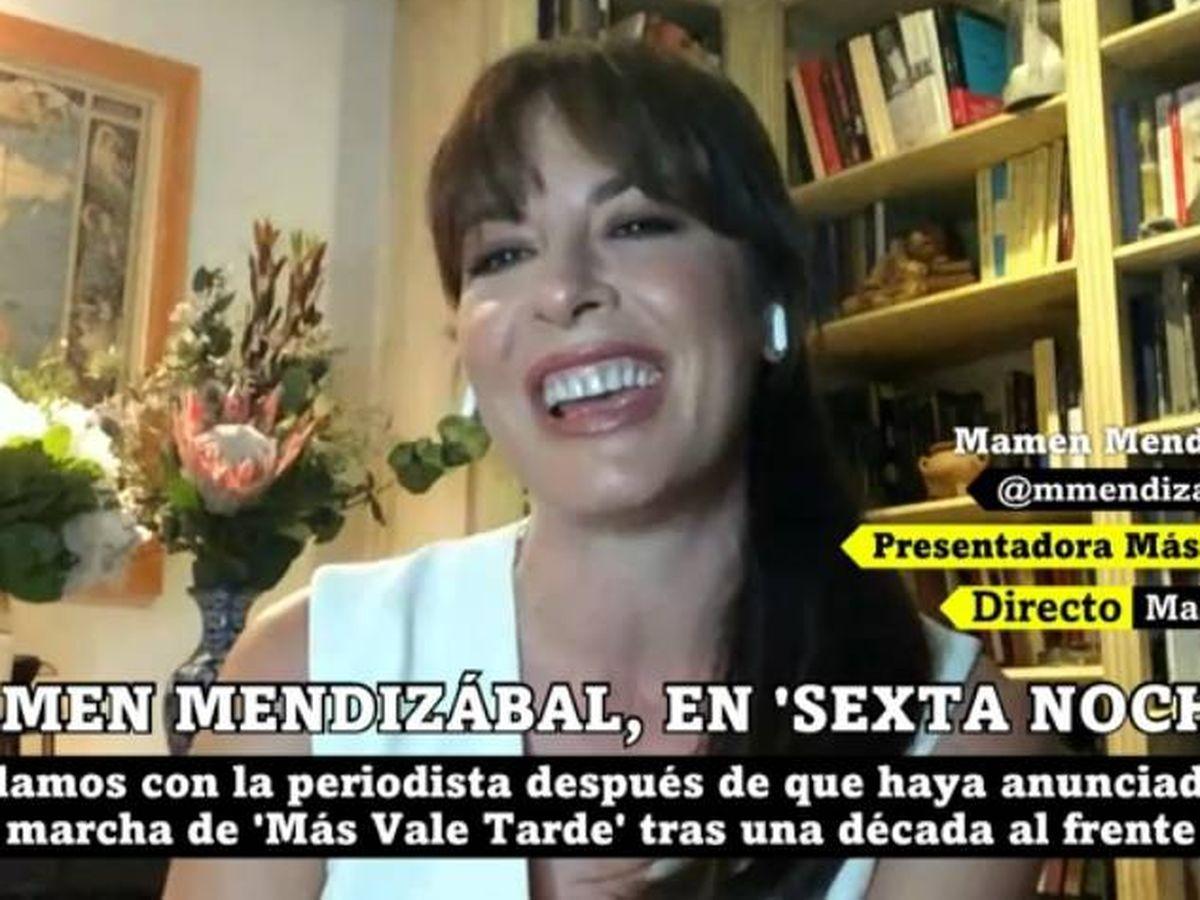 Foto: Mamen Mendizábal, en 'La Sexta noche'. (Atresmedia).