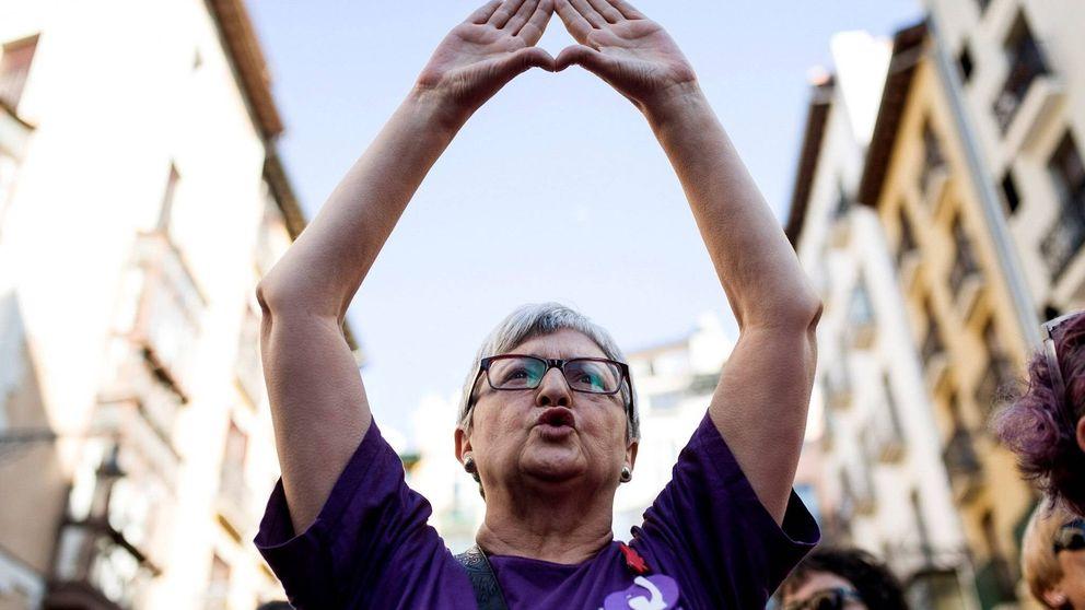 Esta justicia es una mierda: indignación en Pamplona por la libertad de La Manada