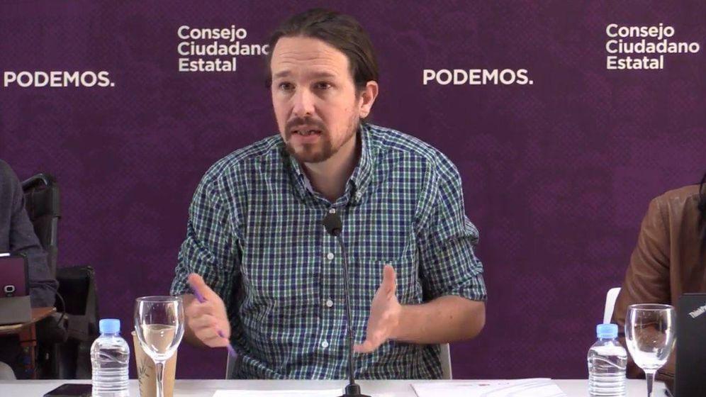 Foto: Pablo Iglesias este durante su intervención en el Consejo Ciudadano Estatal.