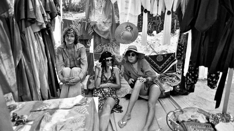'Hippies' en Ibiza en los 70.