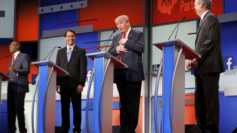 Donald Trump monopoliza el primer debate de los candidatos republicanos