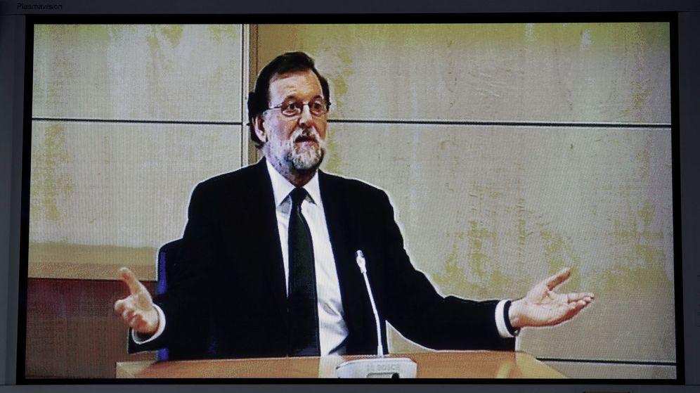 Foto: Mariano Rajoy, el día en que declaró en la Audiencia Nacional. (EFE)