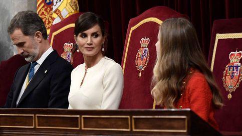 Todos los detalles del elegante look de la reina Letizia en la apertura de las Cortes