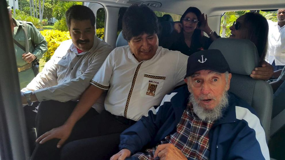 Nicolás Maduro y Evo Morales se unen a Fidel Castro por su cumpleaños