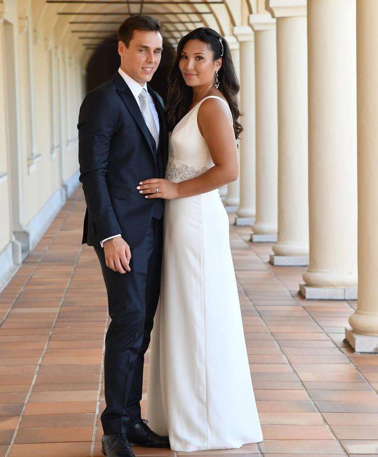 Foto:  Louis Ducruet y Marie Chevallier en su boda civil. (Redes)
