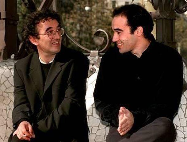 Foto: Roberto Bolaño y Alberto Olmos
