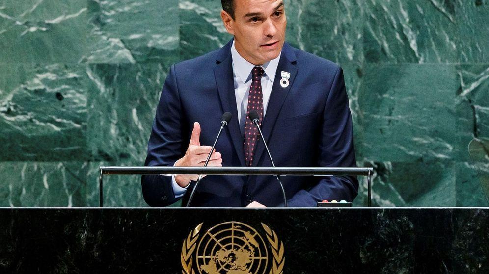 Foto: El presidente del Gobierno en funciones, Pedro Sánchez, en la sede de las Naciones Unidas. (EFE)
