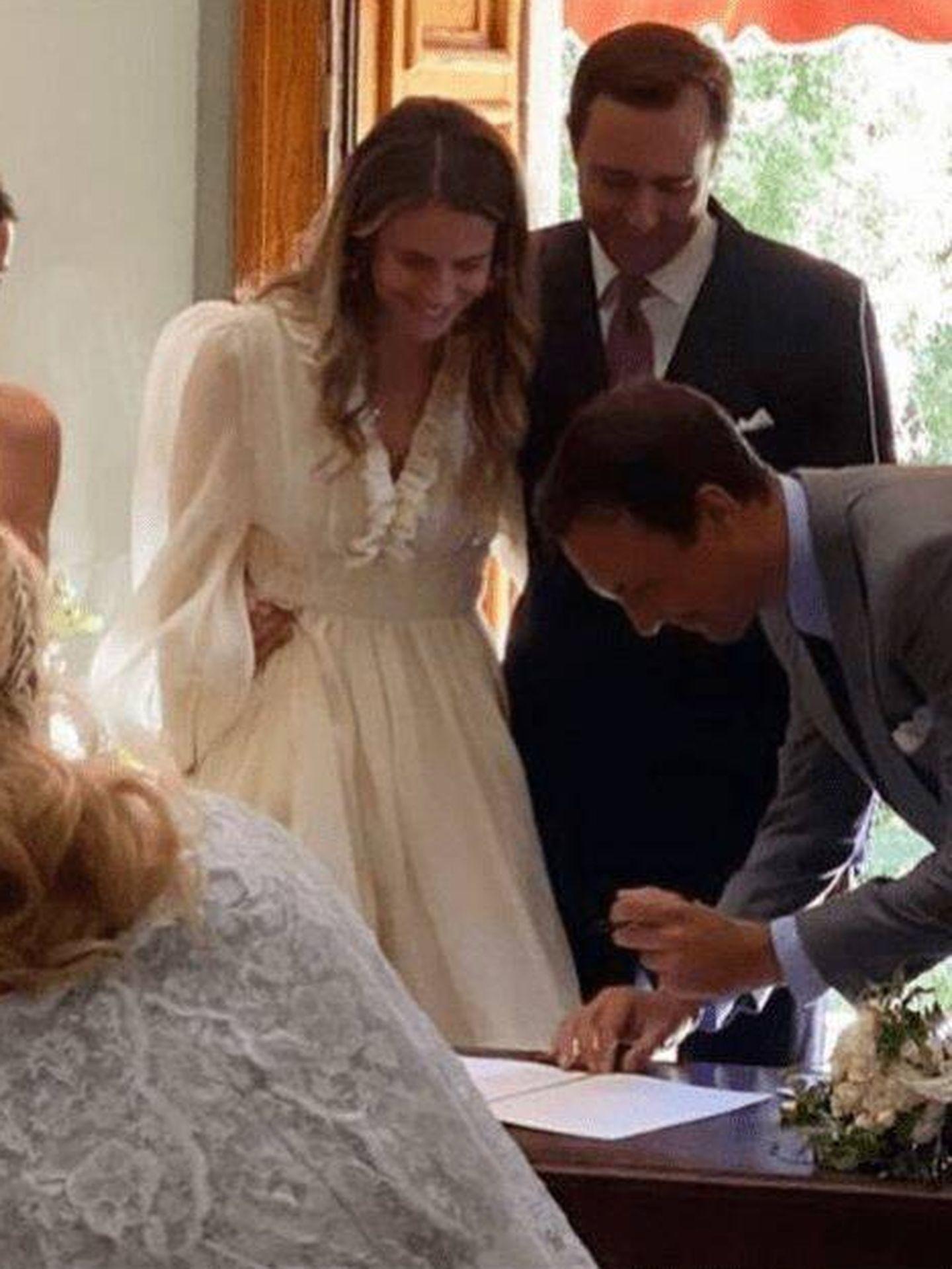 Maria-Annunciata de Liechtenstein y Emanuele Musini, recién casados. (Redes)