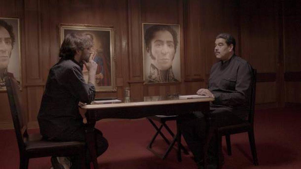 Foto: Jordi Évole y Nicolás Maduro, en 'Salvados'.