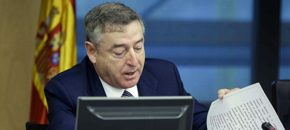 Foto: El presidente del Consejo de Administración y de la Corporación RTVE, José Antonio Sánchez. (EFE)