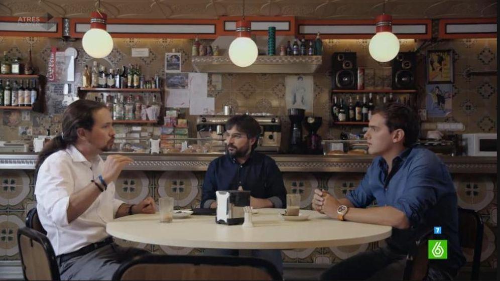 Foto: Cara a cara entre Pablo Iglesias y Albert Rivera en 'LaSexta'