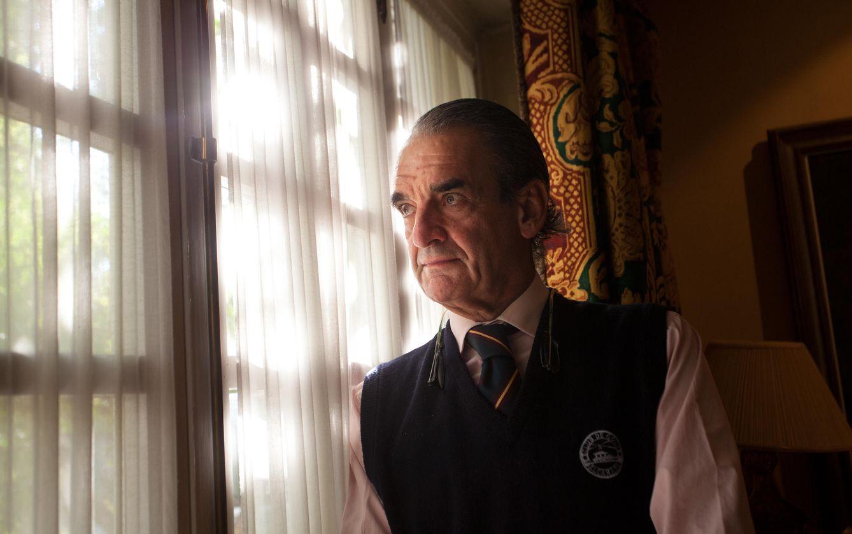 Foto: Mario Conde durante la entrevista (Enrique Villarino)