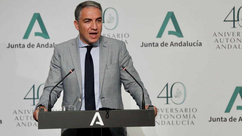 El consejero de la Presidencia de la Junta de Andalucía y portavoz del Gobierno, Elías Bendodo. (EFE)