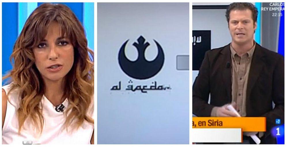 Foto: Mariló Montero, el logo visto en TVE y Jota Abril