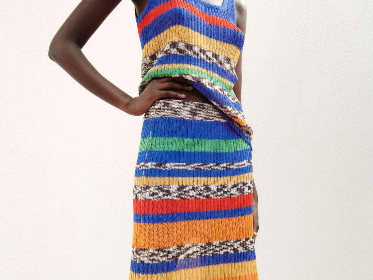Foto: El dos piezas de top y falda de Zara. (Cortesía)
