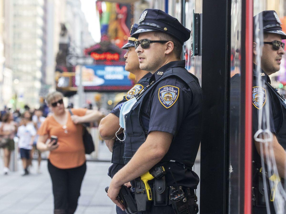 Foto: Patrullas de la Policía en Nueva York. (Reuters)